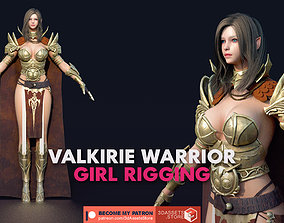 Character - Valkyrie Warrior Girl Rigging Unreal 3D asset