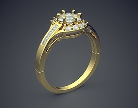 Ring With Diamonds CAD-6888 3D printable model