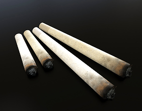 3D model Burnt Marijuana joint tube