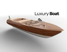 3D asset Luxury boat