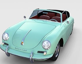 Porsche 356 Convertible rev 3D model