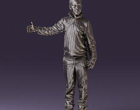 Teen boy in sweater blue pants blue shoes 0931 3D Print 1