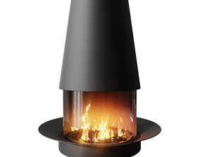 3D asset Photorealistic Fireplace Animated