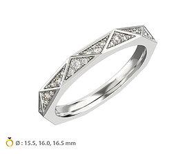 3D printable model N120 Geometric style Diamond Ring