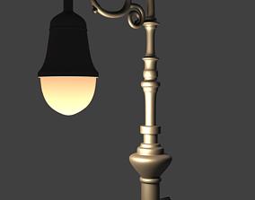 3D Bishops Crook Lamp Post