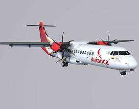 ATR-72 Avianca 3D asset