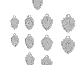 Paw Patrol Key Tags - 3D Printable