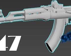 ak-47 3D model game-ready kalashnikov