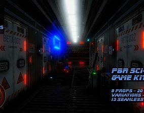 PBR Sci-Fi Game Kit 3D asset