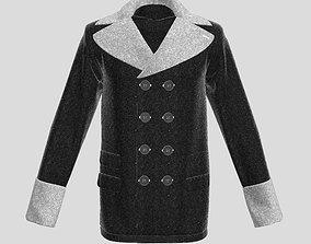 pullover 3D Men Double Breasted Jacket model