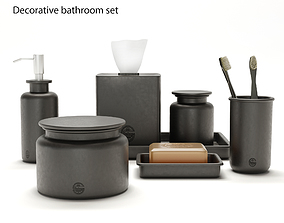 flower 3D model Decorative bathroom set