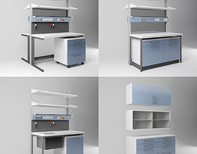 3D model Scientific Laboratory Furniture Set 1