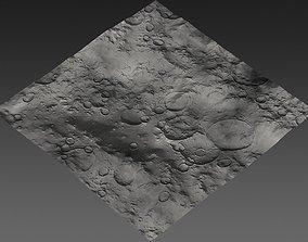 3D model low-poly Large-Scale Moon Environment - Plains