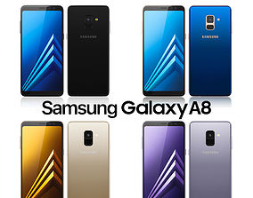 Samsung Galaxy A8 All Colors edge 3D model