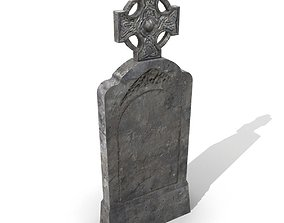 3D asset Tomb with cross