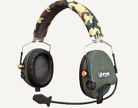 3D asset PBR Headphone Z-Tactical Z110T