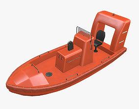3D model Rescue Motor Boat 2