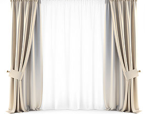 Curtains Gold 2 3D