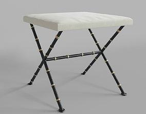 furniture Italian Vintage Iron Stool 3D model
