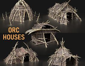 Orc Camp Village House Primal Tent Hut Builder Pack 3D