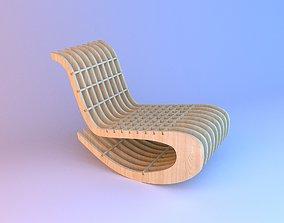 Wooden Parametric Loft Chair 3D
