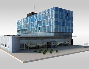 Modern Suburban Office 3D model