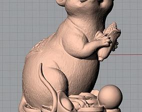 3D Animal Sculpture Model Fortune Mouse A089