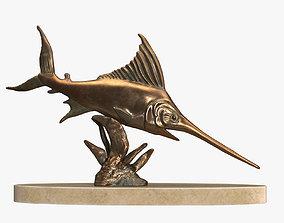 Swordfish Sculpture 3D asset