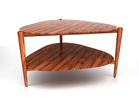Coffee Table Mid Century 01 3D asset