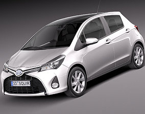 2014 3D model Toyota Yaris 2015