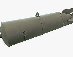 Bomb P-50-75 3D model realtime