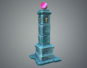 Low Poly Dungeon Pillar 3D model