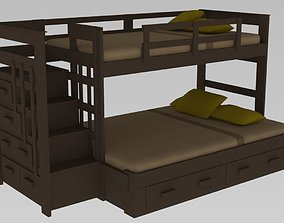 3D model Twin Over Full Bunk Bed
