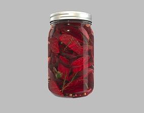 3D Pickling Beetroot in Jar