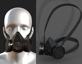 Gas mask respirator scifi military futuristic 3D model