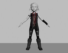 Toon Gothic Punk outfit 3D model