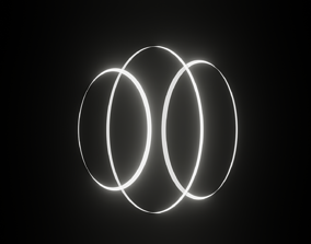 Circular bloom loop 3D asset