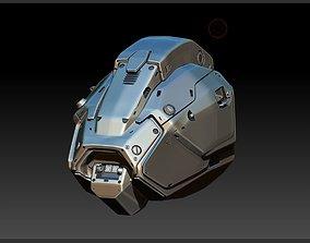 3D model Cyborg Droid Futuristic Space Helmet
