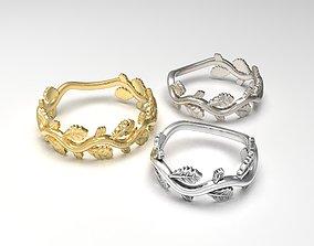love Branch Band rings 3D printable model