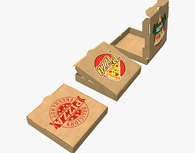 Cardboard box pizza 3D model