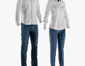3D model Mens and Womens Casual Clothing 1