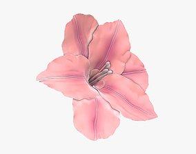 3D model Lily flower artificial