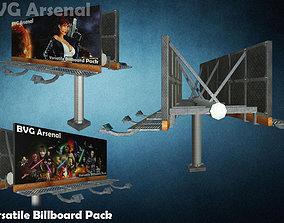 3D asset Modular Billboard Pack 01