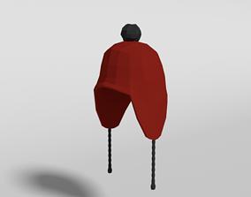 Low Poly Cartoon Beanie Cap 3D asset