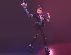 3D Michael Jackson Cartoon Character Design
