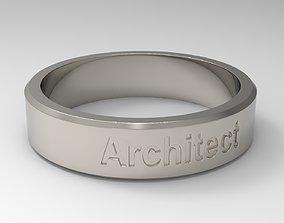 Architect Ring Platinum 3D print model