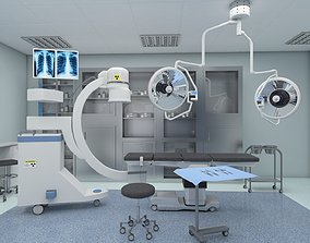 low-poly Operating Room 3D Model