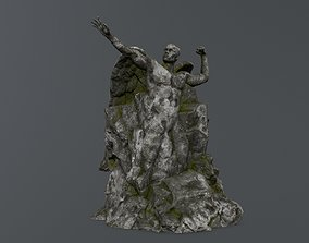 3D model game-ready Man statue 1