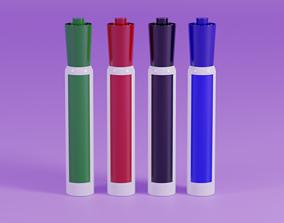 3D model Generic Whiteboard Markers