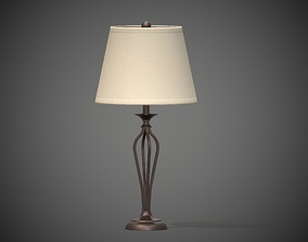 Simple Table Lamp - Hampton PBR USDZ 3D model